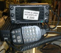 ICOM IC2800 --- NO DISPLAY ---