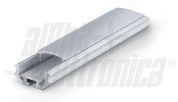 BARRA ALLUMINIO PIATTA 1m PER LED IP20