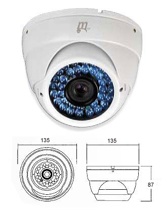 MD 003 TELECAMERA MINI DOME 540 TVL